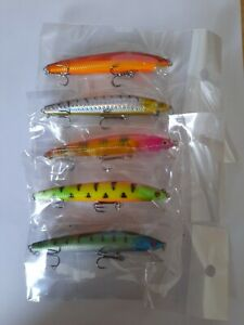 5 Pike Rattle Lures     10cm   9g