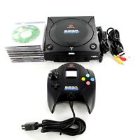 Sega Dreamcast Sports Edition Black Console w/ Controller & 7 Games Tested Works