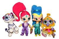 Shimmer and Shine Nahal Tala Plush Doll Soft Stuffed Animal Toys Gift SET Kids