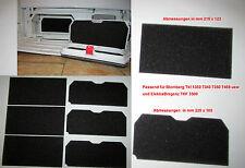 3x Set Schwammfilter Filter Filtermatte für TKF 1350 7340 3500 Blomberg