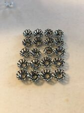 20 NEW 925 Sterling Silver Bali Style Bead Cap 7mm
