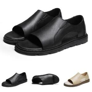 Summer Mens Beach Sandals Shoes Open Toe Slip on Flats Walking Sports Non-slip
