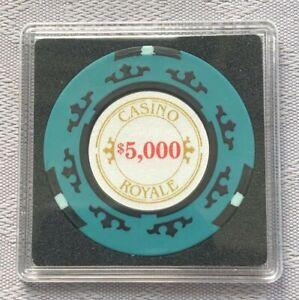 JAMES BOND 007 - CASINO ROYALE $5,000 POKER CHIP SQUARE CARD GUARD/PROTECTOR