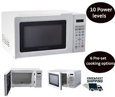 Countertop MICROWAVE OVEN Digital Kitchen LED Display Defrost Cooking White 700W