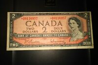 1954 Replacement $2 Dollar Bank of Canada Banknote *BB0116957