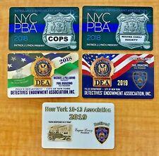 NYPD Police DEA PBA (5) Card Lot for 2018 and 2019