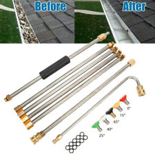 More details for spray wand gutter cleaning tool roof cleaner lance pressure washer part nozzles
