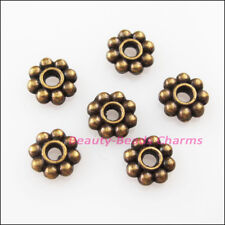 200Pcs Antiqued Bronze Tone Tiny Daisy Spacer Beads Charms 4mm