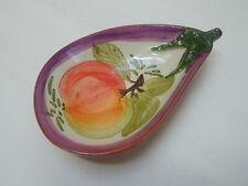 Céramique OLONIA JOSE CARTAXO BORMES peint à la main terre cuite aubergine