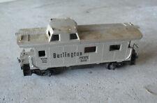 Vintage HO Scale Silver Burlington CB&Q Caboose Car 2005