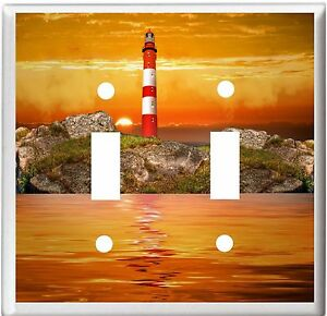 LIGHTHOUSE  OCEAN SUNSET  5 LIGHT SWITCH COVER PLATE   YOU PICK  SIZE