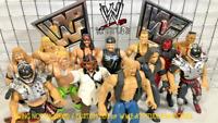 WWF WWE ATTITUDE ERA WRESTLING FIGURES CUSTOM LOT of x13 VINTAGE JAKKS 1998 RARE