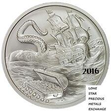 """2016 Silverbug Island Collection """"The Kraken"""" 1 oz .999 Silver BU Round USA Coin"""