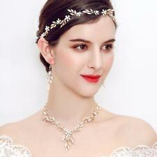 Gold Rhinestone Floral Vine Headband Wedding Prom Bridal Hair Accessories