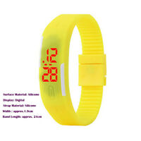 Men Women's Date Rubber LED Waterproof Watch Bracelet Digital Sport Wrist Watch