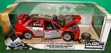 Hot Wheels WRC Team Mitsubishi Lancer Motors #9 Panizzi 1:18 Scale Diecast Car