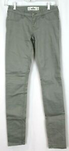 Hollister Low Rise Super Skinny Twill Pants Jeans Light Olive 24/31 Size 0R -New