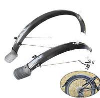"1Pair 20"" Bike Mudguards Front+Rear Bicycle Fender Cycling Mud Guard Set Black"