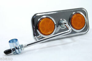 Vintage Classic Bicycle Bike Mirror Rectangular Chrome Plated Rear View Mirror