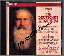 John Eliot GARDINER Signiert BRAHMS Ein deutsches Requiem CD Charlotte Margiono