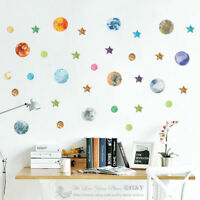 Planet Stars Galaxy Kids Baby Wall Stickers Vinyl Nursery Decal Removable Art
