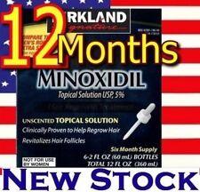 12 Months Kirkland Minoxidil 5% Extra Strength Hair Loss Regrowth Treatment Men