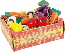 brand new box of wooden fruit and  vegetables toy role play (h2)