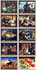 THEM! JAMES ARNESS SCI-FI COMPLETE SET OF 10 INDIV 11x14 LC Plus HS PRINTS 1954