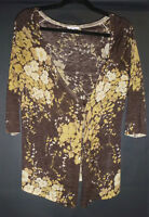 MAX MARA cardigan, brown/beige with sequins,linen/silk, GC, M