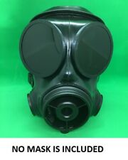 New S10 Rubber Respirator Gas Mask Outserts polycarbonate Black see through Lens