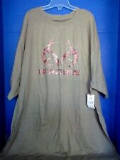 REALTREE~Green Short Sleeve GRAPHIC CAMO DEER ANTLER T SHIRT~Men's XXL~NWT