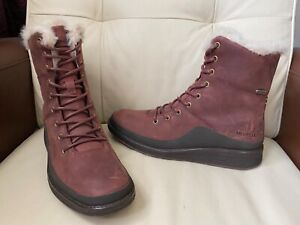 Merrell Burgundy red wine mid leather nubuck boots ,UK size 5.5 ,EUR 38.5
