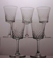 CUT GLASS LEAD CRYSTAL SHERRY 5 GLASSES SET
