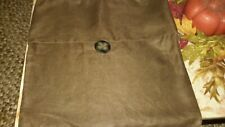 Pottery Barn 100% Linen Brown Button Pillow Cover 18x18