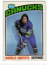 1X HAROLD SNEPSTS 1976 77 O Pee Chee #366 VG Canucks Lots Available