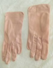 Vintage Light Pink Ladies' Gloves Top Stitching & Cross Stitching - Small Adult