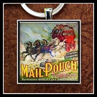 Vintage Mail Pouch Tobacco Sign Ad Photo Keychain Stagecoach Gift Free Shipping