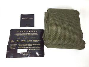 Ralph Lauren Home bed skirt queen houndstooth Green Cotton POLO OD