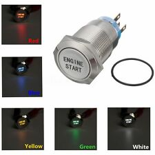 19MM 12V Car Momentary Engine Start Push Button Switch LED Light Waterproof