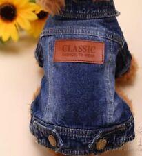Hundebekleidung Hundejacke Jeansjacke Classic Blau Yorkie Chihuahua Luxus M NEU