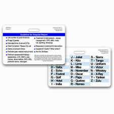 Hospital Report Guidelines w/ Phonetic Alphabet Horz Badge Card EMT EMS Medic