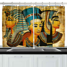 """King & Queen of Ancient Egypt Kitchen Curtains Window Drapes 2 Panels Set 55*39"""""""