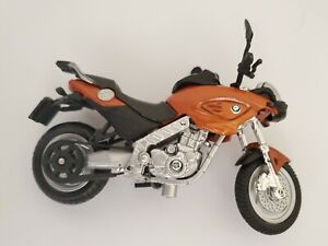 Maisto 1:18 Diecast Orange BMW F650 CS Motorcycle Small Toy Bike Display Piece