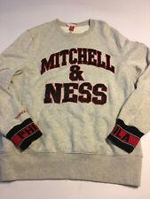 Mitchell & Ness Mens Spell Out Embroidered Gray Sweatshirt Nwot Sz Medium Phila