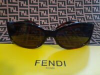 WOMEN'S FENDI BROWN ITALIAN SUNGLASSES 238 54 15 130