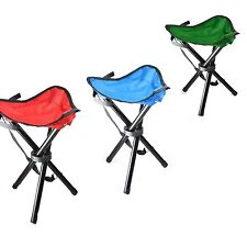 SMALL OUTDOOR FOLDING TRIPOD SEAT CAMPING HIKING FISHING STOOL PICNIC BBQ CHAIR