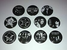 11 The Sisters of Mercy pin Button badges Goth First and last always Floodland