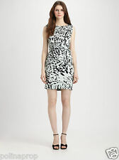 DVF Diane von Furstenberg New Della waist tie Silk dress Paint Marks Mint US 4
