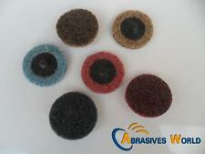 10 of 50mm Roloc Abrasives Sanding Scotch Brite Quick Change Discs CRS/MED/FINE