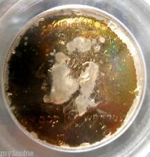 1968-D Kennedy Silver Half Dollar, PCGS MS65,  Monster Rainbow Toned,